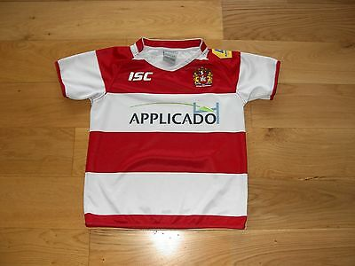 ISC Wigan Warriors Rugby League Shirt/top/jersey/child 12 years