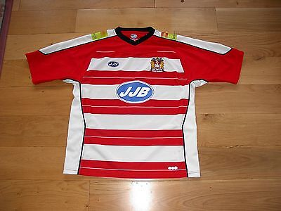 JJB Wigan Warriors Rugby League Shirt/top/jersey/adult large