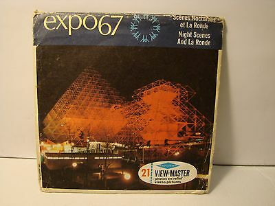 Expo 67 Night Scenes ,view-master 3  reels  A  074