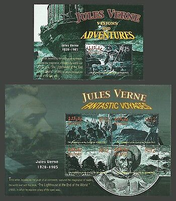 Maldives 2005 Ships Jules Verne Lighthouse At Edge Of The World M/sheets Mnh