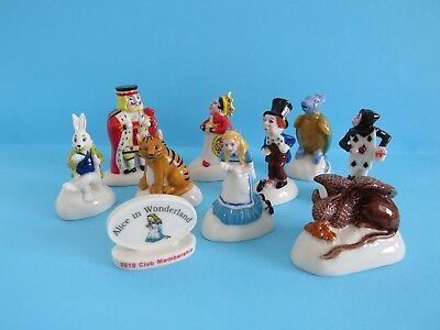 Wade Full Set Alice In Wonderland Figurine 2010 In Great Price *mint Condition*