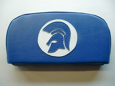 Blue/White Trojan Scooter Back Rest Cover (Purse Style)