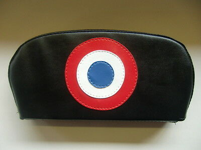 Plain Black with Reverse Target Scooter Back Rest Cover (Purse Style)