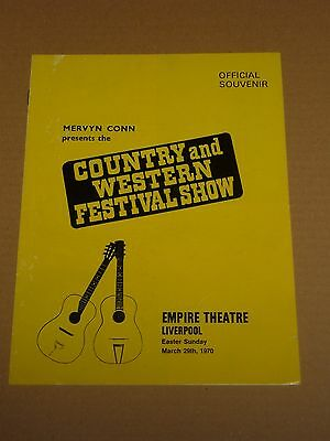Country & Western Festival Show 1970 Liverpool Concert Programme (Roy Acuff)