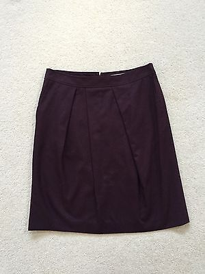 Jigsaw Purple Wool Mix Skirt Size 12 *New with Tags* RRP £48