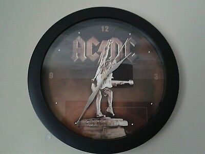 ACDC Stiff Upper Lip Wall Clock. AC/DC Angus Young Rock Metal