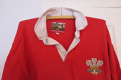 Cotton Traders Rugby Union Shirt Wales XL Home Welsh Cymru Long Sleeved Large