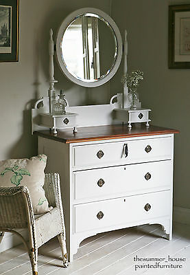 Lovely Vintage Arts & Crafts Dressing Table painted in Farrow & Ball
