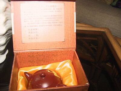 Collectable miniatureChinese teapot in presentation box