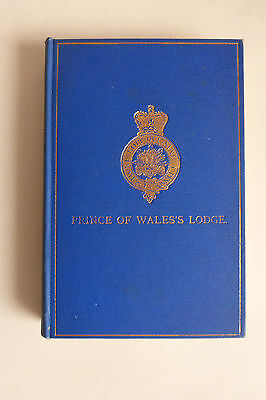 Prince of Wales's Lodge No.259 Masonic History 1910 First Edition