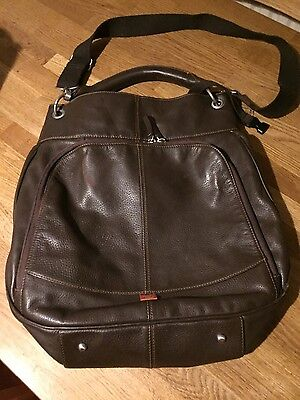 Pacapod Phoenix Brown real leather baby changing bag - With Both Pods