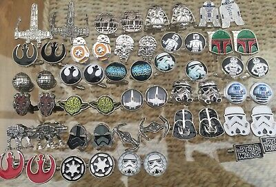 Star Wars Novelty Cufflinks Yoda Bb8 R2D2 Stormtroopers Darth + More Mens Gift