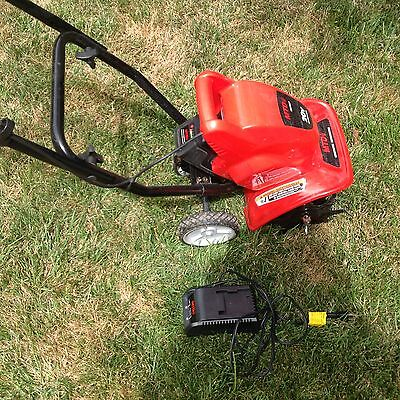 MTV Cultivator Garden Tiller LITHIUM BATTERY powered. charged and ready to go