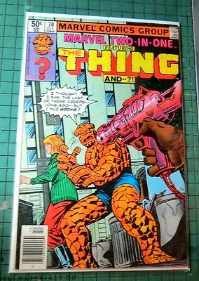 Marvel Two in One The Thing #70 Marvel Comics Bronze Age Lot C505