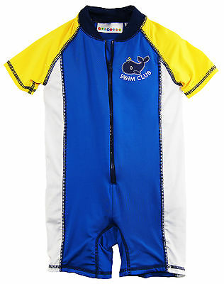 Wippette Baby Boys Swimwear Whale Swim Club Sunsuit Rashguard Bathing Suit