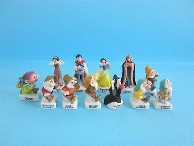 Amazing Miniature 12 Porcelain,snow White,witch,queen,7 Dwarf,mate Color V-Rare