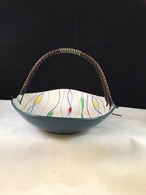 1950s Bonbon Sweet Dish Wire Handle Retro Vintage