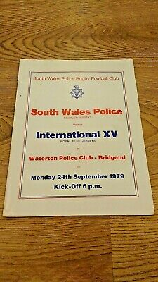 South Wales Police v International XV 1979 Rugby Union Programme