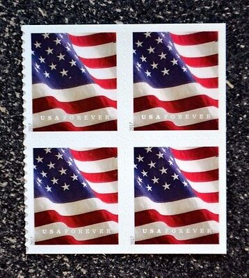 2017USA #5161 Forever U.S. Flag US - Block of 4 From Booklet of 20  Mint  (APU)