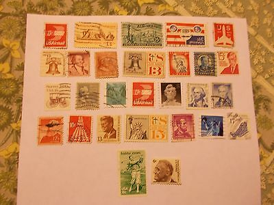 COLLECTION of 28 USA STAMPS FROM MID-20th CENTURY - ALL USED - ALL DIFFERENT
