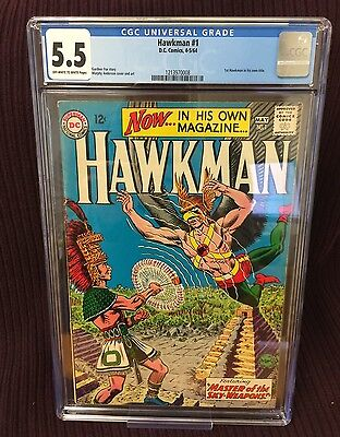 D.C. Silver Age Hawkman #1 CGC FN- 5.5 1st Appearance Hawkman in Own Title