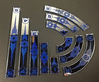 x wing movement templates imperial mirrored silver acrylic with