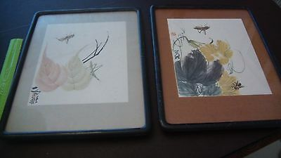 Asian Oil Paintings - Set of Two