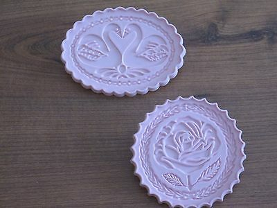 2 Flower Cookie Cutter stamps - Very Good Condition = Make beautiful Cookies