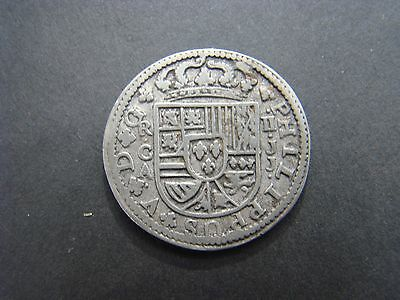 Philip Of Spain 1718 Silver Coin