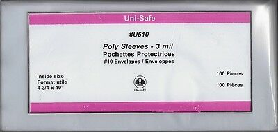 """Poly Cover Holders Fit 4-¾"""" x 10"""" Covers, Pkg 100 - Unisafe U510"""