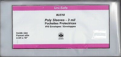 """Poly Cover Holders Fit 4-¾"""" x 10"""" Covers, Pkg of 25 - Unisafe U510"""