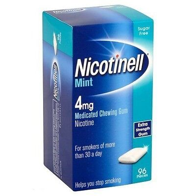 Nicotinell Mint 4mg Medicated Chewing Gum 96 Pieces