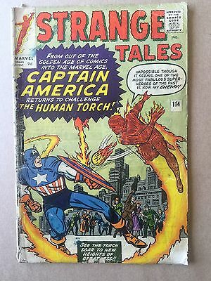 Strange Tales #114 ⭐️ 1st First Silver Age Captain America ⭐️ Marvel