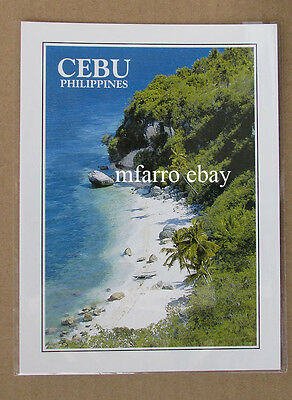 Philippines Post Card,Cebu Tropical Beach - (New and Sealed)