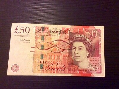 Bank Of England £50 Fifty Pound Note First Run Prefix Aa01 294773