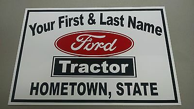 Personalized Ford Tractor Name Sign