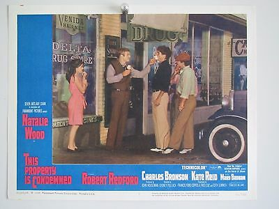 THIS PROPERTY is CONDEMNED LOBBY CARD  No:1 Natalie wood Redford & Bronson