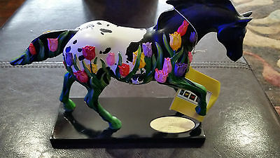 "Trail of Painted Ponies LOW #933 of 20,000  ""TIP-TOE THROUGH THE TULIPS"" Ltd ED"
