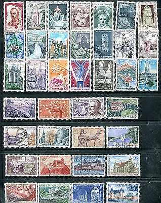 Lot Of 112 France Stamps Assorted