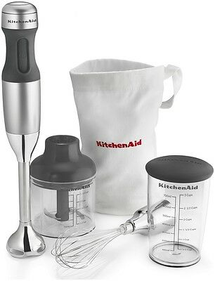 KitchenAid KHB2351CU Immersion Blender Wisk and Chopper 3 Speed