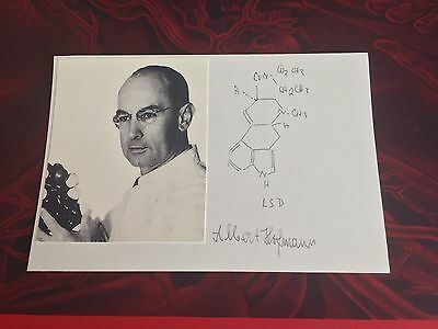Albert Hofmann Signature and hand written LSD structure Signed COA psychedelic