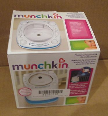 Munchkin Nursery Projector and Sound System White Baby Bedtime Soother Night