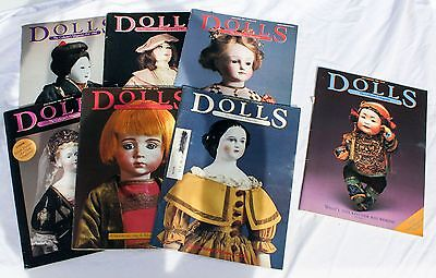 Vtg Lot 23 Magazines Antique Doll Reader Values Collector Collecting Barbie 80s