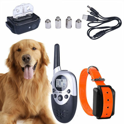1000M Rechargeable Remote Yard Waterproof Shock Training Collar for Pet Dog New