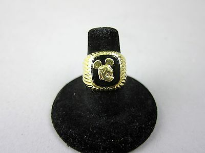 14k Gold Mickey Mouse Ring 7 3/4 Size Men 5.3 DWT