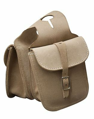 NEW Natural Roughout Leather Saddle Horn Bag  Trail Ride