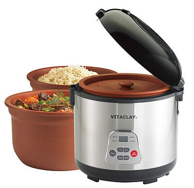 VitaClay« 2-in-1 Rice Slow Cooker & Clay Insert - Round, 6-cup / 3.2-Quart