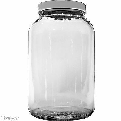 Kombucha Kitchen Fermenting Plastic Lid Glass Bottle Cup Container Storage Jar