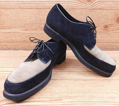 Hush Puppies Shoes Oxfords Vintage Leather Lace Tan Black Two-Tone Women's 8.5 W