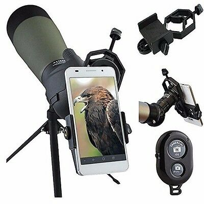 Spotting Scope Mount Adapter for IPhone Android Smartphone Video Image Recording